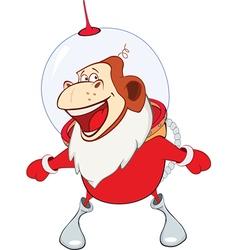 Monkey Astronaut Year of the Monkey Cartoon vector image vector image