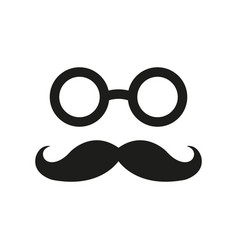 mustache icon simple flat vector image