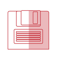 Obsolete diskette design vector