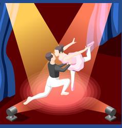 Of couple dancing ballet vector