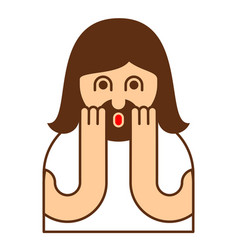 oh my god jesus emotion omg christos emoji vector image