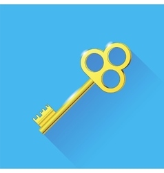 Old gold key vector