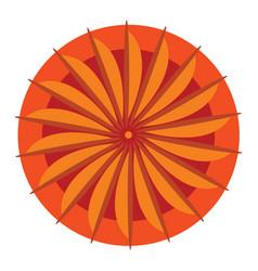 Orange mandala for spiritual practice or color vector