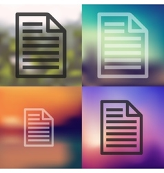 Paper icon on blurred background vector