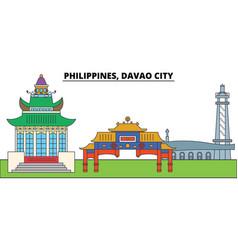 Philippines davao city city skyline vector