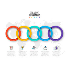 rings infographic business data vector image