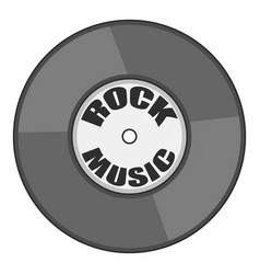 Rock music vinyl record icon cartoon style vector
