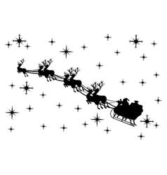 Santa claus silhouette vector