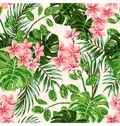 Seamless exotic pattern with tropical leaves and f vector