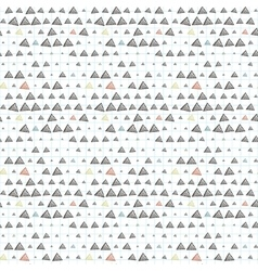 seamless pattern of triangles primed on vector image