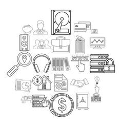 Servant icons set cartoon style vector