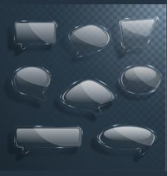 set transparent shiny speech bubbles vector image