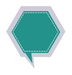 Sticker hexagon frame callout dialogue vector