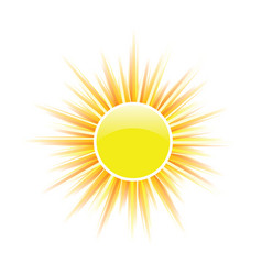 Sun yellow vector