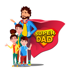 super dad father s day shield badge vector image