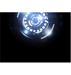 Technological digital abstract modern light hud vector