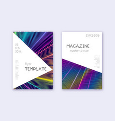 triangle cover design template set rainbow abstra vector image