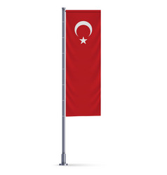 vertical hanging flag vector image