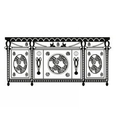 Vintage Baroque Rich Commode table vector