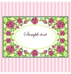 Vintage card with pattern of roses vector image