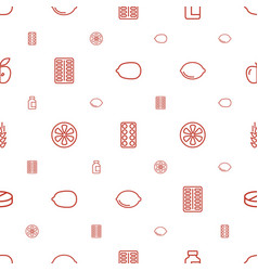 Vitamin icons pattern seamless white background vector