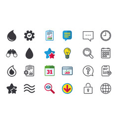 water drop icons tear or oil symbols vector image