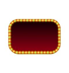 Blank rectangular retro light banner with lights vector image vector image