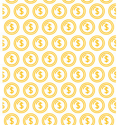 coins signs seamless pattern background vector image vector image