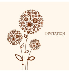 Decorative floral invitation vector image vector image