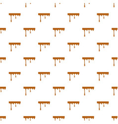 Flowing drop of caramel pattern vector