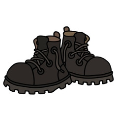 Funny black boots vector image vector image