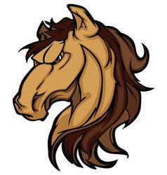 mustang stallion mascot cartoon image vector image vector image