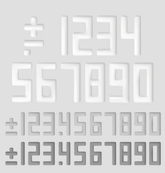 number sings vector image