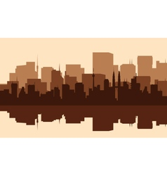 Silhouette of the city with towers vector image