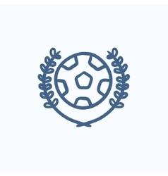 Soccer badge sketch icon vector image vector image