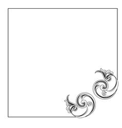 victorian style corner decoration vector image vector image