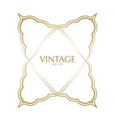 Vintage frame badges and labels background vector image