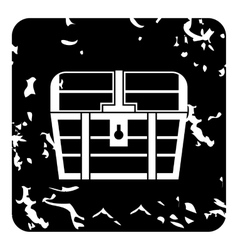 Chest icon grunge style vector image vector image
