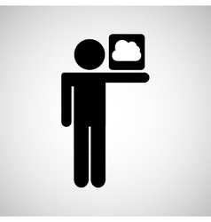 concept globe social media cloud vector image vector image