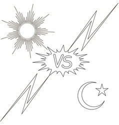 day and night vs the sun and the moon star vector image vector image