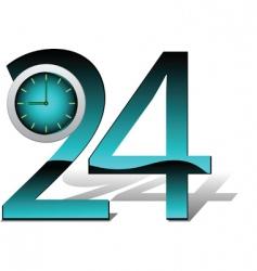 hours illustration vector image