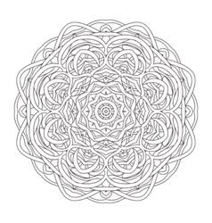 Mandala Vintage hand drawn round lace design vector image vector image