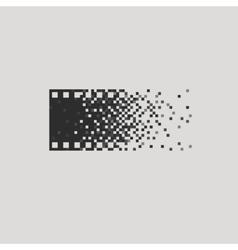 Photo logotype concept analogue digital versus vector image