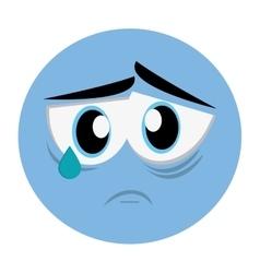 sad face emoticon icon vector image vector image
