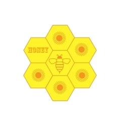 Set of honey labels vector image
