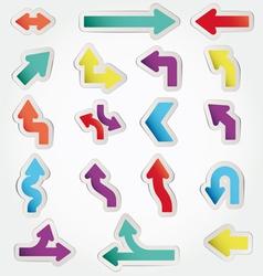 arrows set vector image vector image