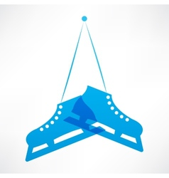 Blue skates vector image vector image