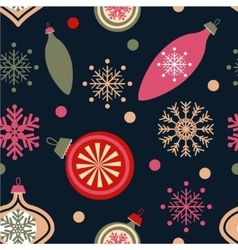 Christmas decorations on blue vector image