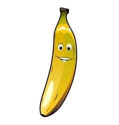 Cute cheeky smiling cartoon banana vector image vector image