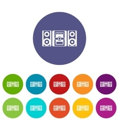 Music center set icons vector image vector image